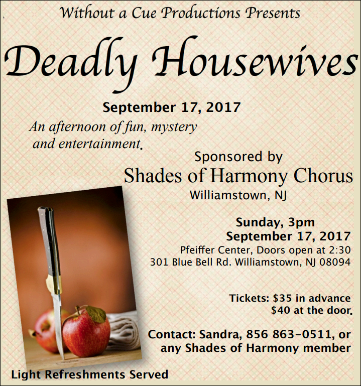 Deadly Housewives A Murder Mystery By Without A Cue Productions